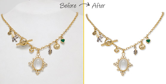clipping path for jewelry